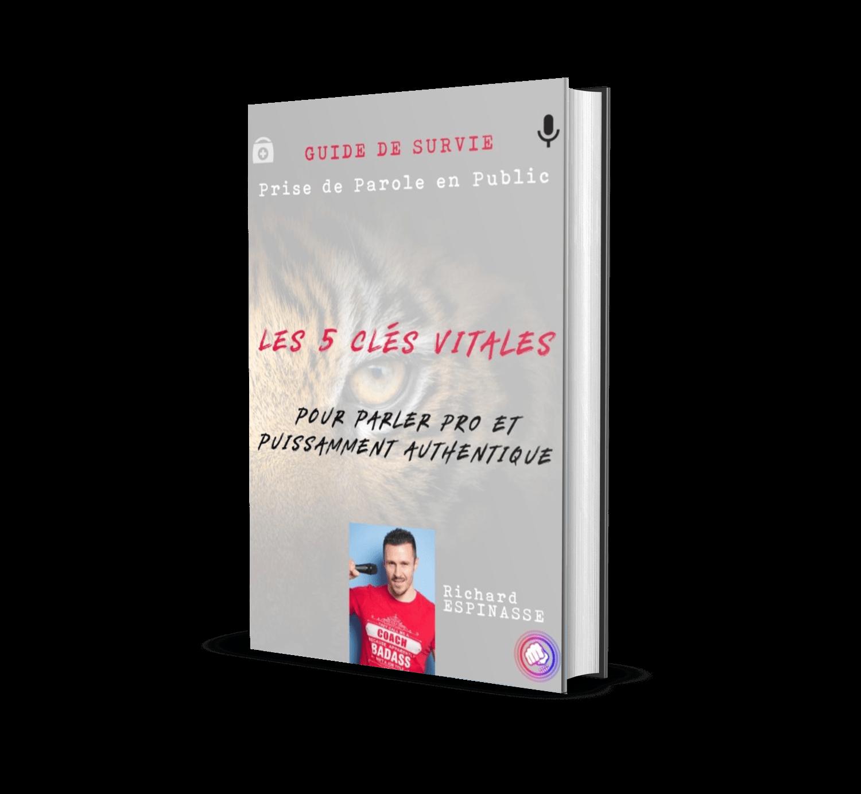 Couverture Ebook Richard Espinasse Guide de Survie Prise de Parole en Public